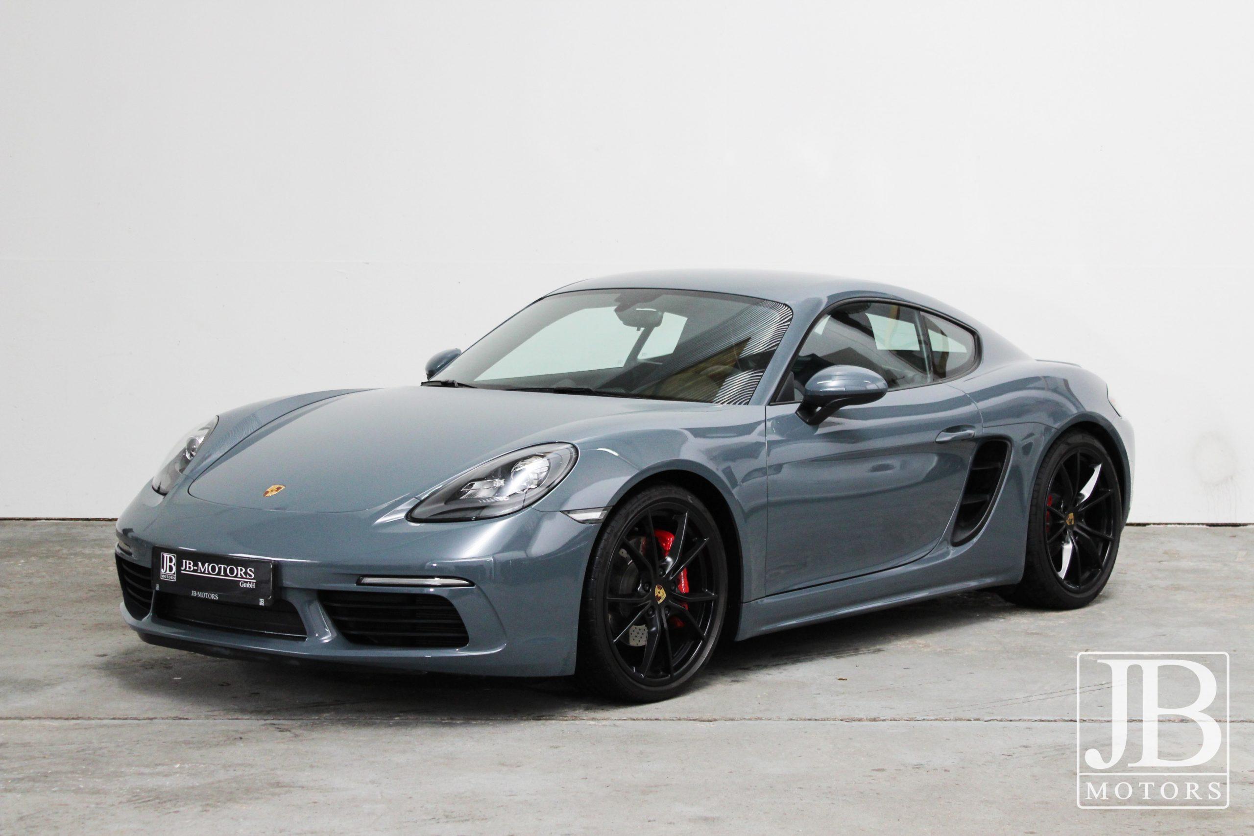 Porsche Cayman S 718 graphit blau 1